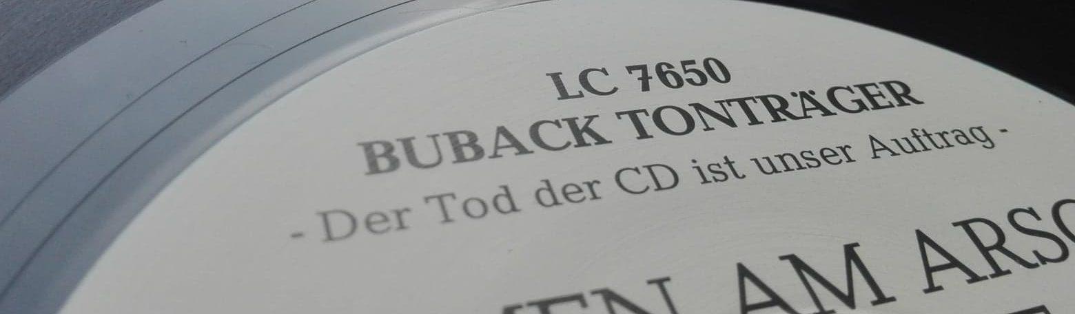Hat zwar nix mit Hip-Hop zu tun, ist aber immerhin ein Vinyl-Tonträger: Blumen am Arsch der Hölle.